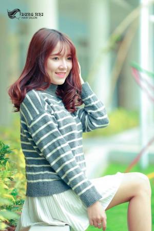 Tóc lỡ xoăn kiểu Hàn
