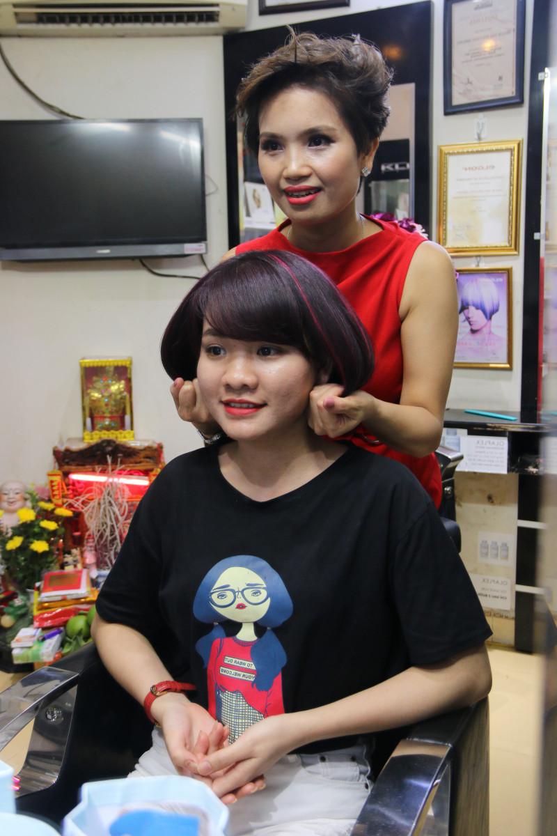 Những mẫu tóc công sở khiến các nàng mê mẩn tại Phương Nhung hair salon - 56 Ngõ Thông Phong, HN 12