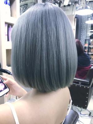Tóc nhuộm màu  Platinium