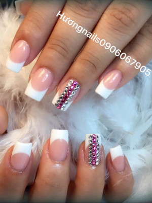 Pinks and white