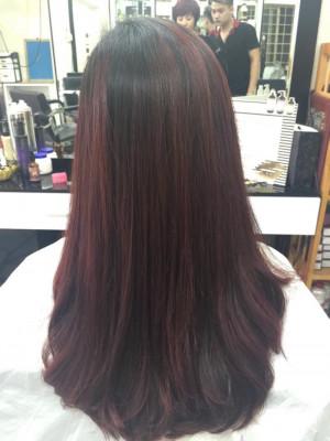 Tóc thẳng đỏ