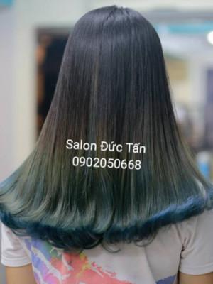 Tóc dài uốn cụp Ombre