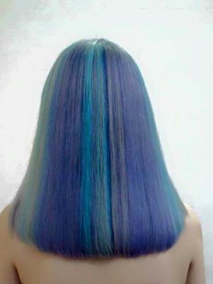 Nhuộm opal khói tím, blue, rêu