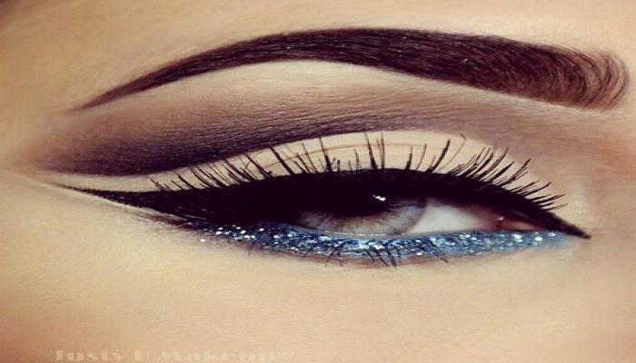 Glitter Eyeliner kiểu makeup hot nhất mùa lạnh