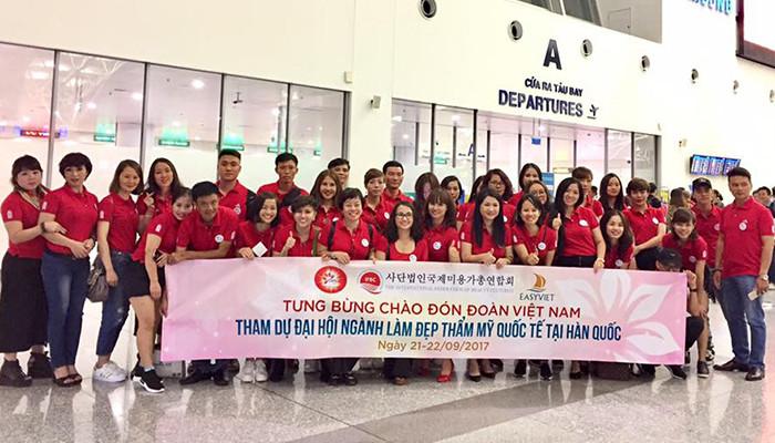 Hình ảnh đoàn  Việt Nam từ Đại hội thẩm mỹ quốc tế Hàn Quốc lần thứ 11-Ấn tượng và Hội nhập