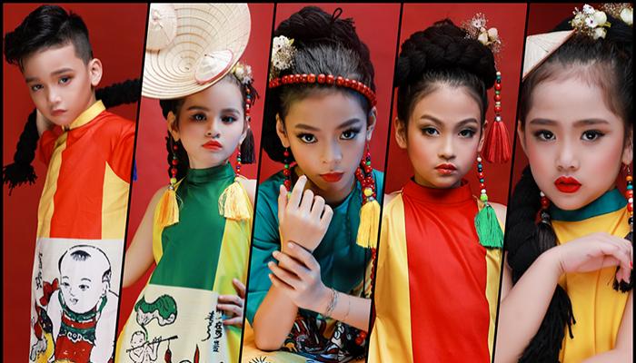 Dàn mẫu nhí Hà Thành tạo nên cơn sốt với tà áo dài dân tộc