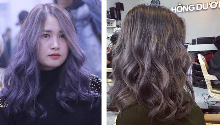 Khuấy động mùa Tết với những màu tóc thời thượng dành riêng cho những cô nàng thích xoăn sóng dài Hàn Quốc