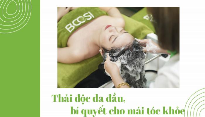 Thải độc da đầu, bí quyết cho mái tóc khỏe